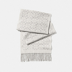 SIGNATURE MUFFLER - HEATHER GREY - COACH F77705