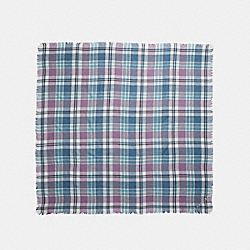 COACH PLAID OVERSIZED SQUARE - POND - F77768