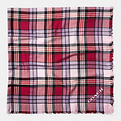 PLAID OVERSIZED SQUARE - f77768 - RED/MULTICOLOR