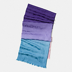 OMBRE SIGNATURE C WRAP - PURPLE MULTI - COACH F77795