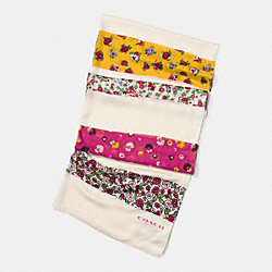 COACH FLORAL PATCHWORK OBLONG SCARF - CHALK MULTI - F77802