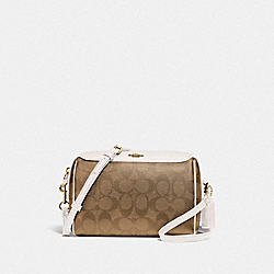 BENNETT CROSSBODY IN SIGNATURE CANVAS - KHAKI/CHALK/GOLD - COACH F77879