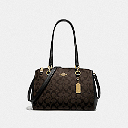 ETTA CARRYALL IN SIGNATURE CANVAS - BROWN/BLACK/GOLD - COACH F77881