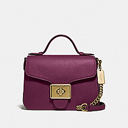 CASSIDY TOP HANDLE CROSSBODY - IM/DARK BERRY - COACH F77897