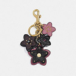 WILDFLOWER MIX BAG CHARM - GD/OXBLOOD - COACH F77960
