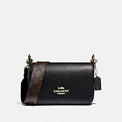 SMALL JES MESSENGER WITH SIGNATURE CANVAS STRAP - IM/BLACK - COACH F77979IMBLK