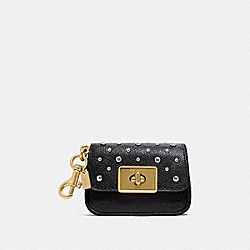MINI CASSIDY COIN CASE WITH RIVETS - IM/BLACK - COACH F78051IMBLK
