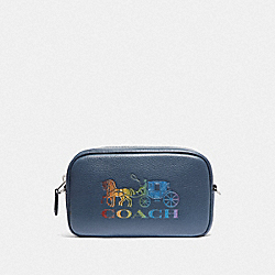 JES CONVERTIBLE BELT BAG WITH RAINBOW HORSE AND CARRIAGE - DENIM/MULTI/SILVER - COACH F78131