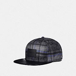 FLAT BRIM HAT - SIG C PLAID - COACH F78492