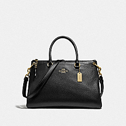 MIA SATCHEL - BLACK/GOLD - COACH F78750