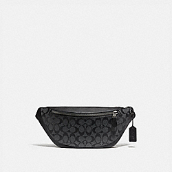 WARREN BELT BAG IN SIGNATURE CANVAS - CHARCOAL/BLACK/BLACK ANTIQUE NICKEL - COACH F78777