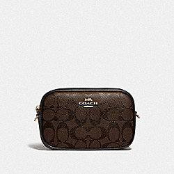 CONVERTIBLE BELT BAG IN SIGNATURE CANVAS - BROWN/BLACK/GOLD - COACH F79209