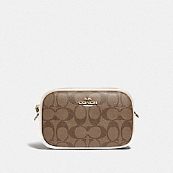 CONVERTIBLE BELT BAG IN SIGNATURE CANVAS - KHAKI/CHALK/GOLD - COACH F79209