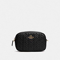 CONVERTIBLE BELT BAG WITH QUILTING - IM/BLACK - COACH F79211