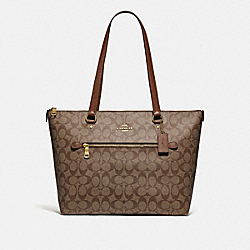 GALLERY TOTE IN SIGNATURE CANVAS - IM/KHAKI/SADDLE 2 - COACH F79609