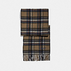 SIGNATURE PLAID SCARF - KHAKI MULTI - COACH F79671