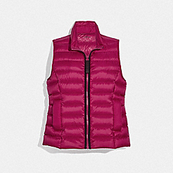 SHORT DOWN VEST - FUSCHIA - COACH F79678