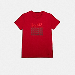 COACH T-SHIRT - RED - COACH F79700