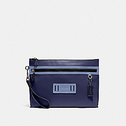 CARRYALL POUCH IN COLORBLOCK - QB/CADET/LT PERIWINKLE MULTI - COACH F79780