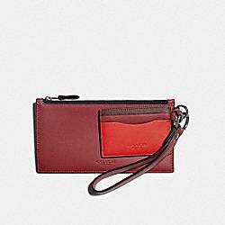SLG TRIO IN COLORBLOCK - QB/SOFT RED/ HOT RED MULTI - COACH F79797