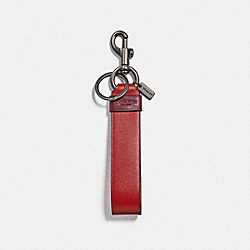 LARGE LOOP KEY FOB - QB/SOFT RED HOT RED - COACH F79798QBPNF