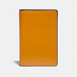 CARD WALLET IN COLORBLOCK - QB/HEATHER GREY/AMBER MULTI - COACH F79802