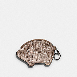 PARTY PIG COIN CASE - IM/METALLIC ROSE GOLD - COACH F79922