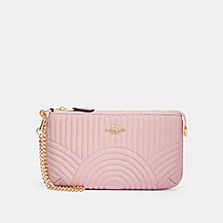 LARGE WRISTLET WITH ART DECO QUILTING - IM/PINK - COACH F79934