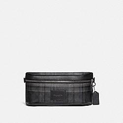 WESTWAY BELT BAG IN SIGNATURE CANVAS WITH PLAID PRINT - QB/BLACK MULTI - COACH F79938