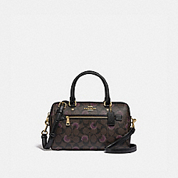 ROWAN SATCHEL IN SIGNATURE CANVAS WITH MOON PRINT - IM/BROWN PURPLE MULTI - COACH F79947