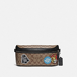 STAR WARS X COACH WESTWAY BELT BAG IN SIGNATURE CANVAS WITH PATCHES - QB/TAN MULTI - COACH F79950