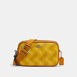 CROSSBODY POUCH WITH HORSE AND CARRIAGE PRINT - SV/YELLOW MULTI - COACH F79952