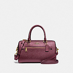 ROWAN SATCHEL - IM/METALLIC WINE - COACH F79954