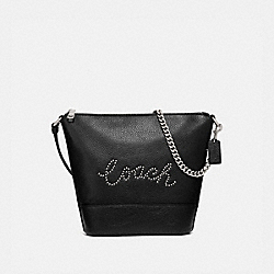 SMALL PAXTON DUFFLE WITH STUDDED COACH SCRIPT - SV/BLACK - COACH F79955