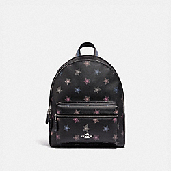 MEDIUM CHARLIE BACKPACK WITH DOT STAR PRINT - SV/BLACK MULTI - COACH F79964