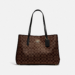 LARGE AVENUE CARRYALL IN SIGNATURE CANVAS - IM/BROWN/BLACK - COACH F79987