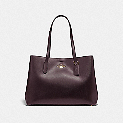 LARGE AVENUE CARRYALL - IM/RASPBERRY BLACK - COACH F79988