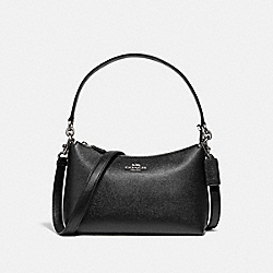 LEWIS SHOULDER BAG - SV/BLACK - COACH F80058