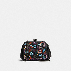 PEARL KISSLOCK CROSSBODY WITH LEATHER SEQUINS - QB/BLACK MULTI - COACH F80193
