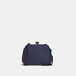 PEARL KISSLOCK CROSSBODY IN COLORBLOCK - QB/BLUE MULTI - COACH F80194
