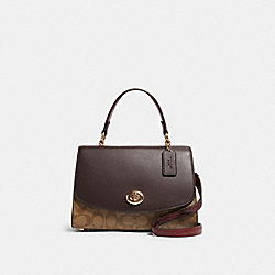 TILLY TOP HANDLE SATCHEL IN SIGNATURE CANVAS - IM/KHAKI MULTI - COACH F80230
