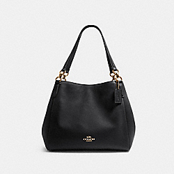 HALLIE SHOULDER BAG - IM/BLACK - COACH F80268