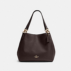HALLIE SHOULDER BAG - IM/OXBLOOD 1 - COACH F80268