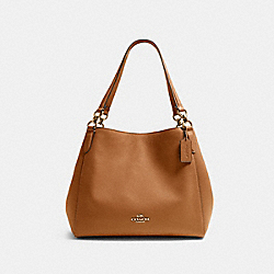 HALLIE SHOULDER BAG - IM/LIGHT SADDLE - COACH F80268