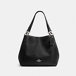 HALLIE SHOULDER BAG - SV/BLACK - COACH F80268