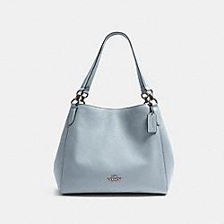 HALLIE SHOULDER BAG - SV/PALE BLUE - COACH F80268