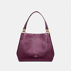 HALLIE SHOULDER BAG - IM/METALLIC BERRY - COACH F80271