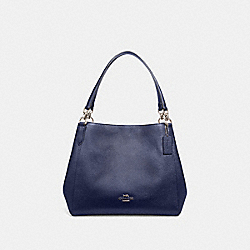 HALLIE SHOULDER BAG - SV/METALLIC BLUE - COACH F80271