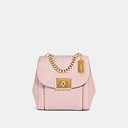 CASSIDY BACKPACK WITH ART DECO QUILTING - IM/PINK - COACH F80822
