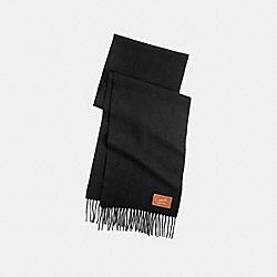 COACH CASHMERE BLEND MUFFLER - BLACK - F80881